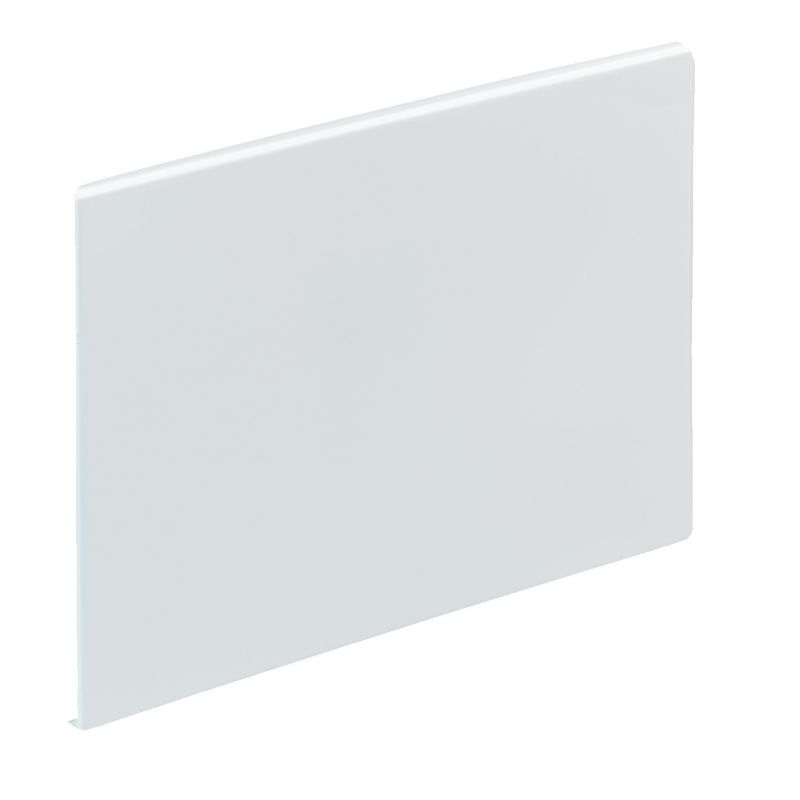 Barcelona Straight Bath End Panel White (L)700mm