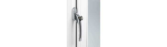 PVCu window handle