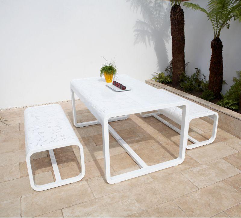 Petra 4 Seat Aluminium Dining Set