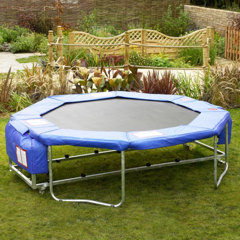 Folding 8ft Trampoline With Cover and Enclosure