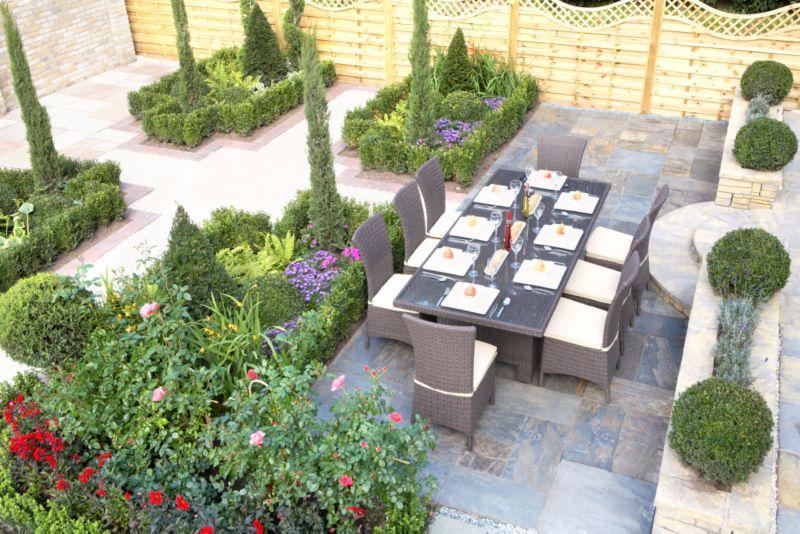 Wellington 8 Seat Rattan Effect Dining Set