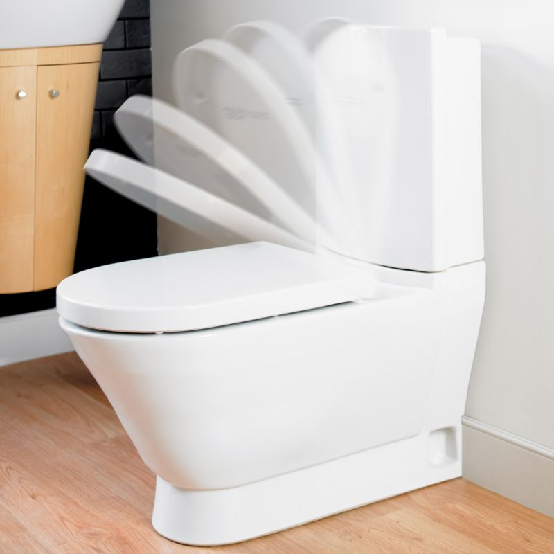 Porto/Mono Soft-Close Toilet Seat White