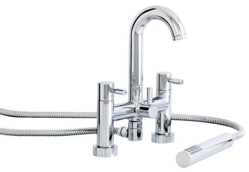 Seattle Bath/Shower Mixer Tap Chrome Effect