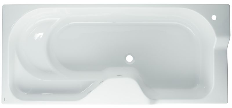 Freedom Shaped Acrylic Bath White