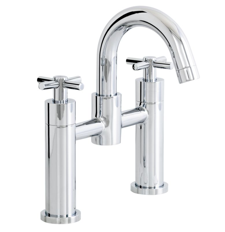 Prague Bath Filler Tap Chrome Effect