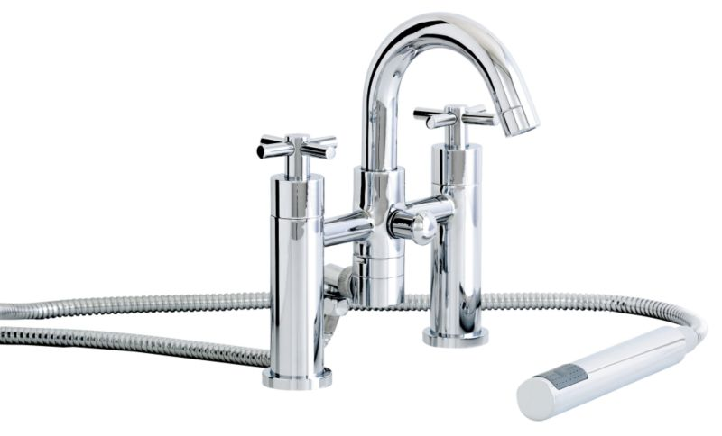 Prague Bath/Shower Mixer Tap Chrome Effect