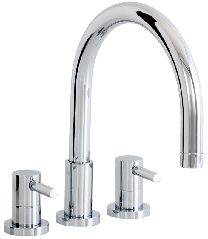 Rossini Three Tap Hole Bath Filler Tap Chrome Effect