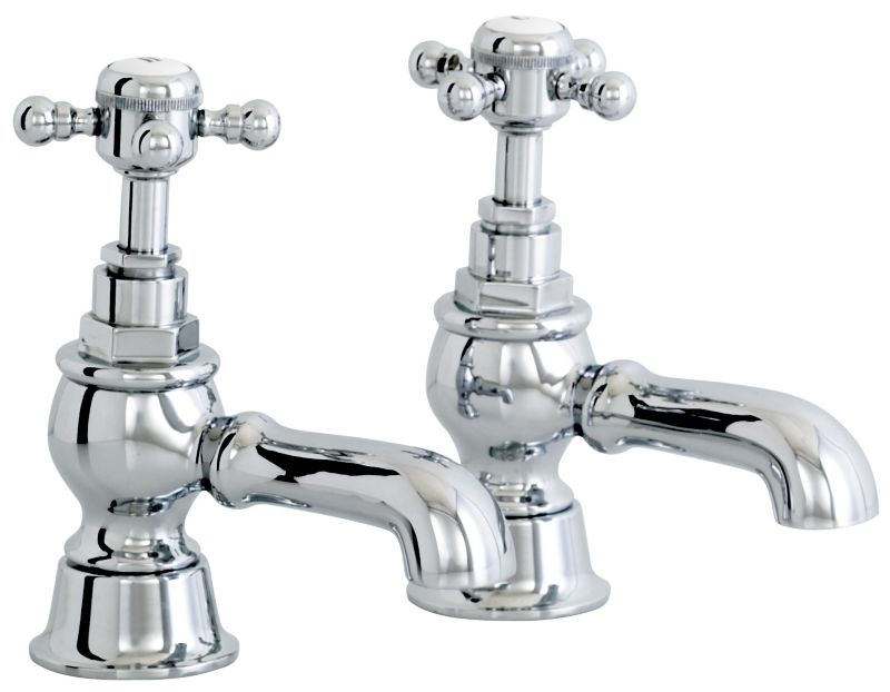 Gloucester Bath Taps Chrome Effect