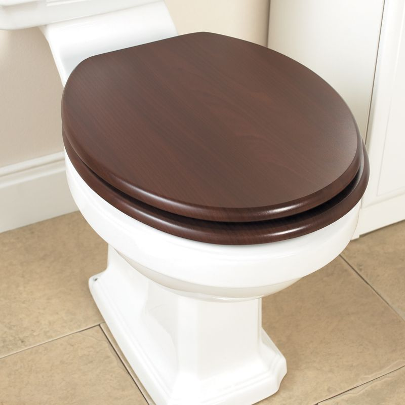 Toilet Seat Hickory Effect/Chrome Effect
