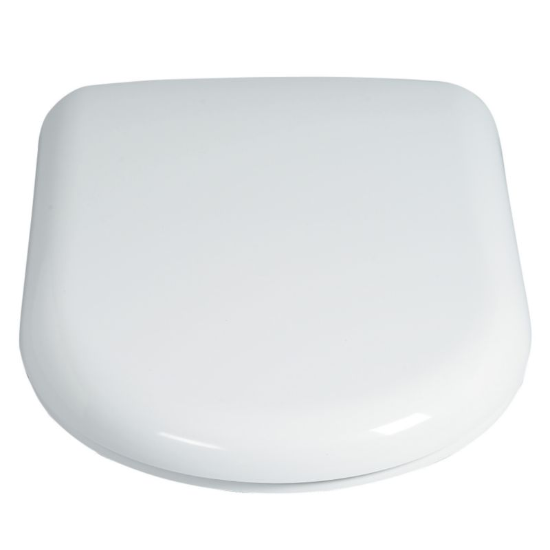 Mono Toilet Seat White/Chrome Effect