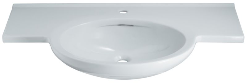 Zone Winged Basin White (W)1000 x (L)500mm