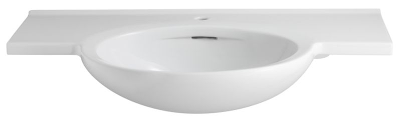 Zone Winged Basin White (W)1200 x (L)500mm