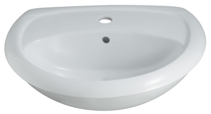 Valencia Semi-Recessed Basin White