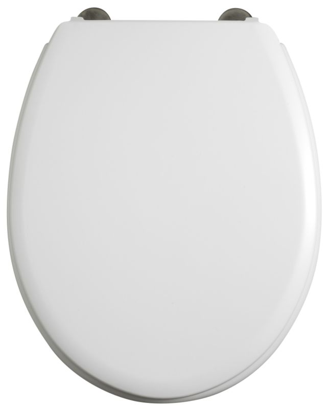 Gloucester Toilet Seat White/Chrome Effect