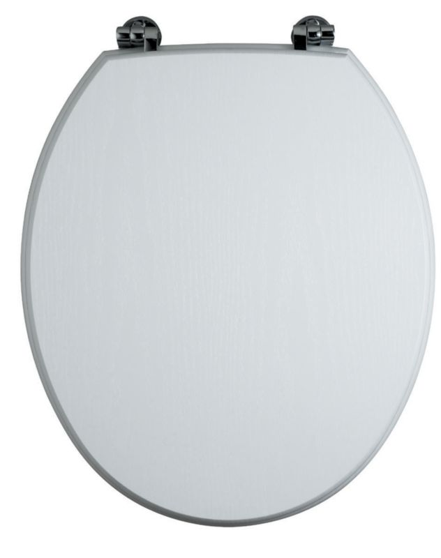 Romsey Toilet Seat White Ash Effect