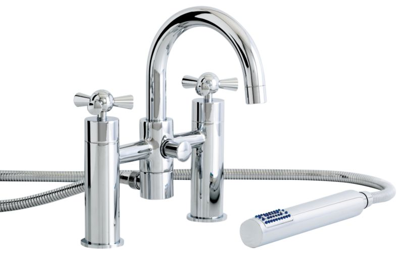 Porto Bath/Shower Mixer Tap Chrome Effect
