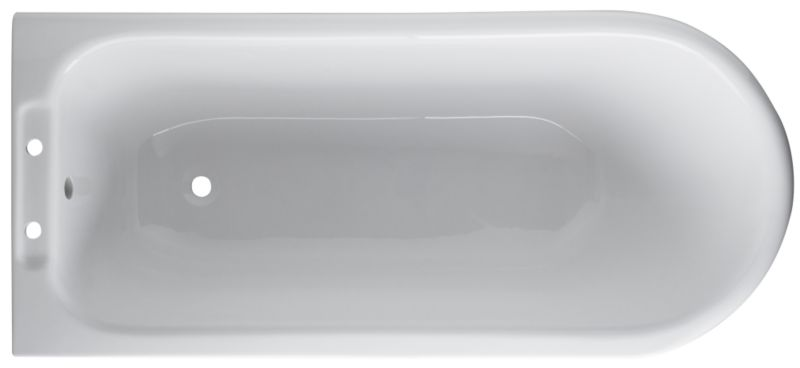 Freestanding Right-Handed Corner Bath White