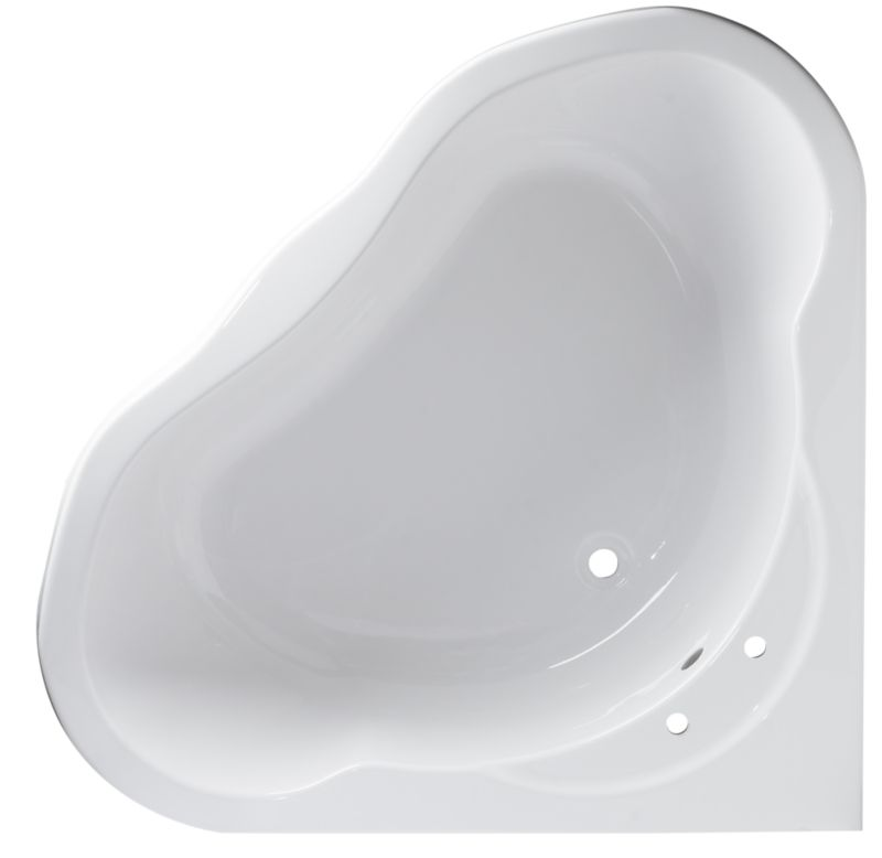 Luxury Corner Freestanding Bath White