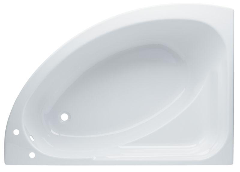 Left-Handed Universal Acrylic Corner Bath White
