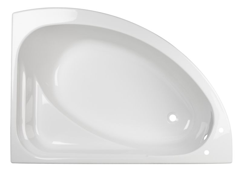 Right-Handed Universal Acrylic Corner Bath White