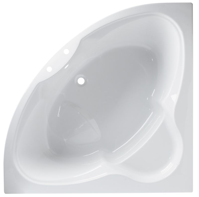Luxury Corner Acrylic Bath White