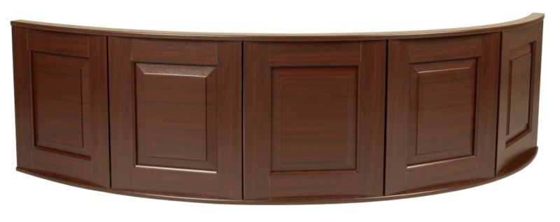 Corner Panel For Universal Acrylic Corner Baths Mahogany Effect