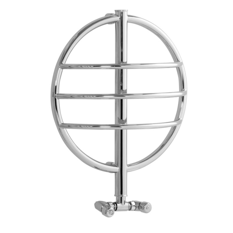 Disq 1 Ring Hydronic Towel Rail Chrome Plated (H)610 x (W)290 x (D)600cm