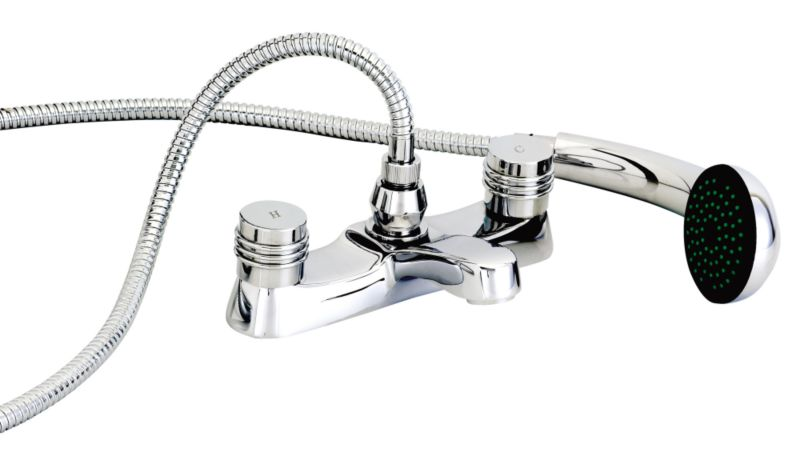 Barcelona Bath/Shower Mixer Tap Chrome Effect