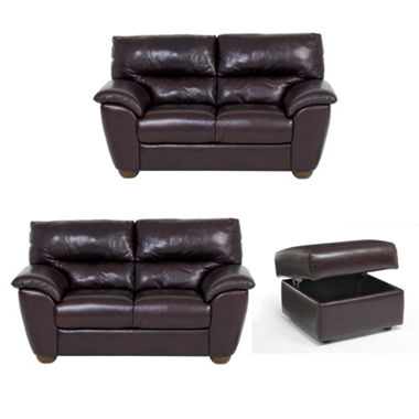 Pair (2) of 2 seater sofas with a foostool offer