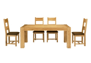 Bask Dining table and 4 wooden chairs only