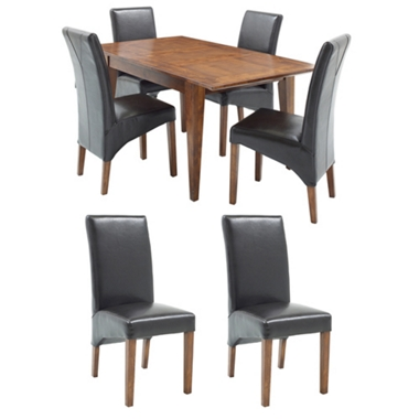 GREAT DINING DEAL! Small ext. dining table and 6 standard chairs