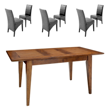 GREAT DINING DEAL! Small ext. dining table and 6 Loom chairs