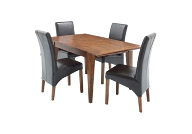 Small extending dining table and 4 chairs