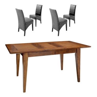 Boston Small ext. dining table and 4 Loom chairs