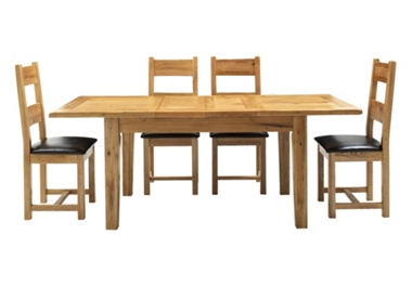 Lyon Ext. table with 4 wooden chairs only