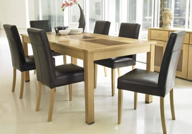 Marc Dohl Furniture Extending table and 4 Biarritz chairs only