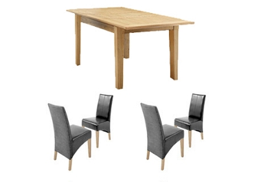 New Orleans Small ext. table and 4 loom chairs