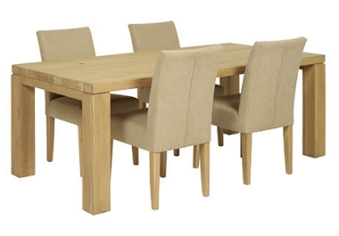 Normandy. Table and 4 fabric chairs