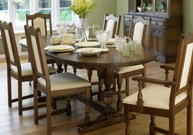 Old Charm Lancaster Extending table and 4 side chairs (Barley)