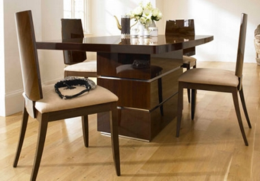 Rossini Extending dining table and 4 chairs