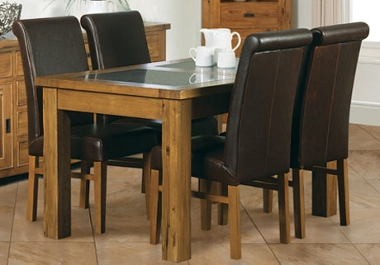 G Plan Village Small ext table with 4 roll back chairs