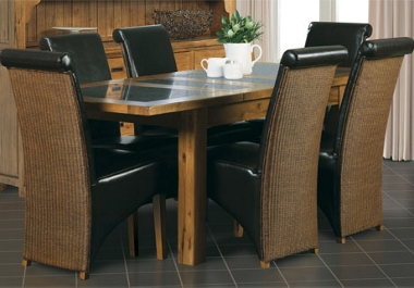 G Plan Village Large ext. table with 4 loom back chairs only