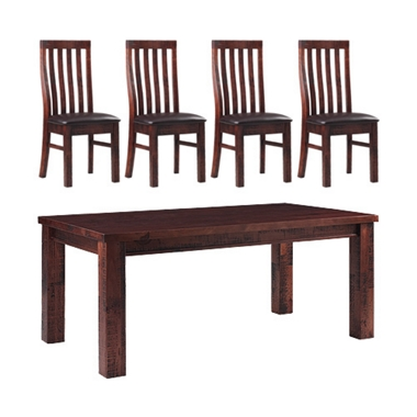 Zanzibar Table with 4 slat chairs only