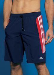 Swim Shorts - Adidas Navy & Red Swim Shorts