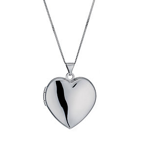 9ct white gold diamond engraved 21mm locket - Product number 1000233