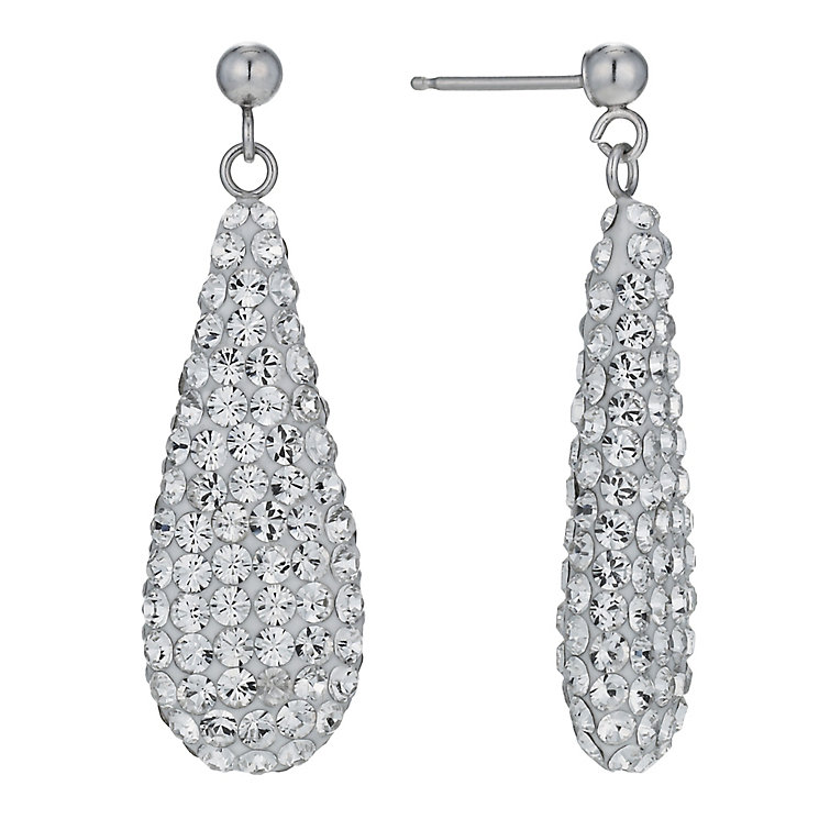 Evoke 9ct White Gold Double Sided Drop Earrings - Product number 1003461
