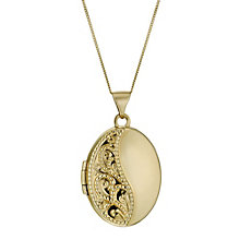 "9ct Yellow Gold 18"" Engraved Oval Locket - Product number 1005251"