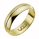 9ct yellow gold 6mm polished groove band ring - Product number 1009389