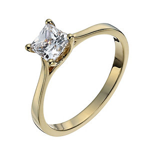 Lumiere 18ct Gold-Plated Made With Swarovski Zirconia Ring - Product number 1012649