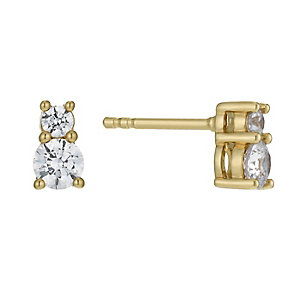 Lumiere 18ct Gold-Plated With Swarovski Zirconia Earrings - Product number 1012789